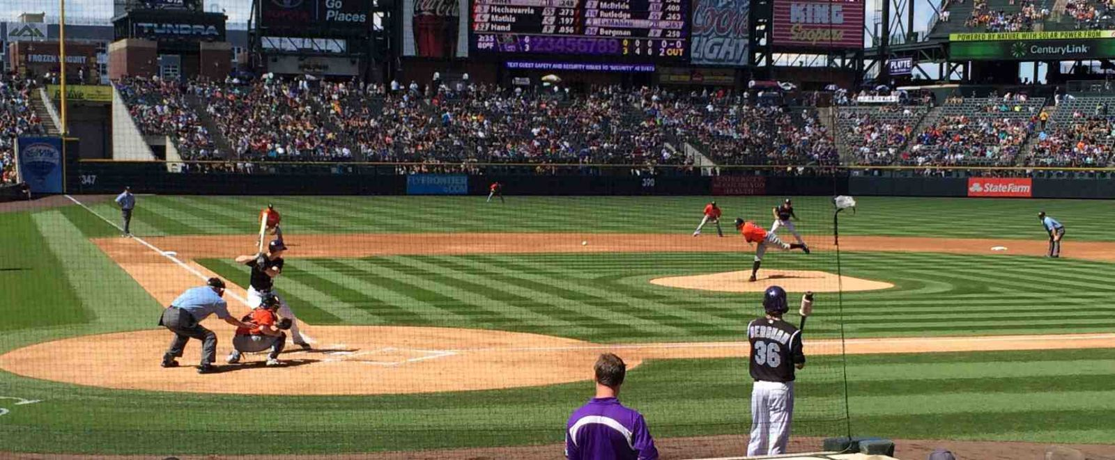 Seat View for Coors Field Section 127