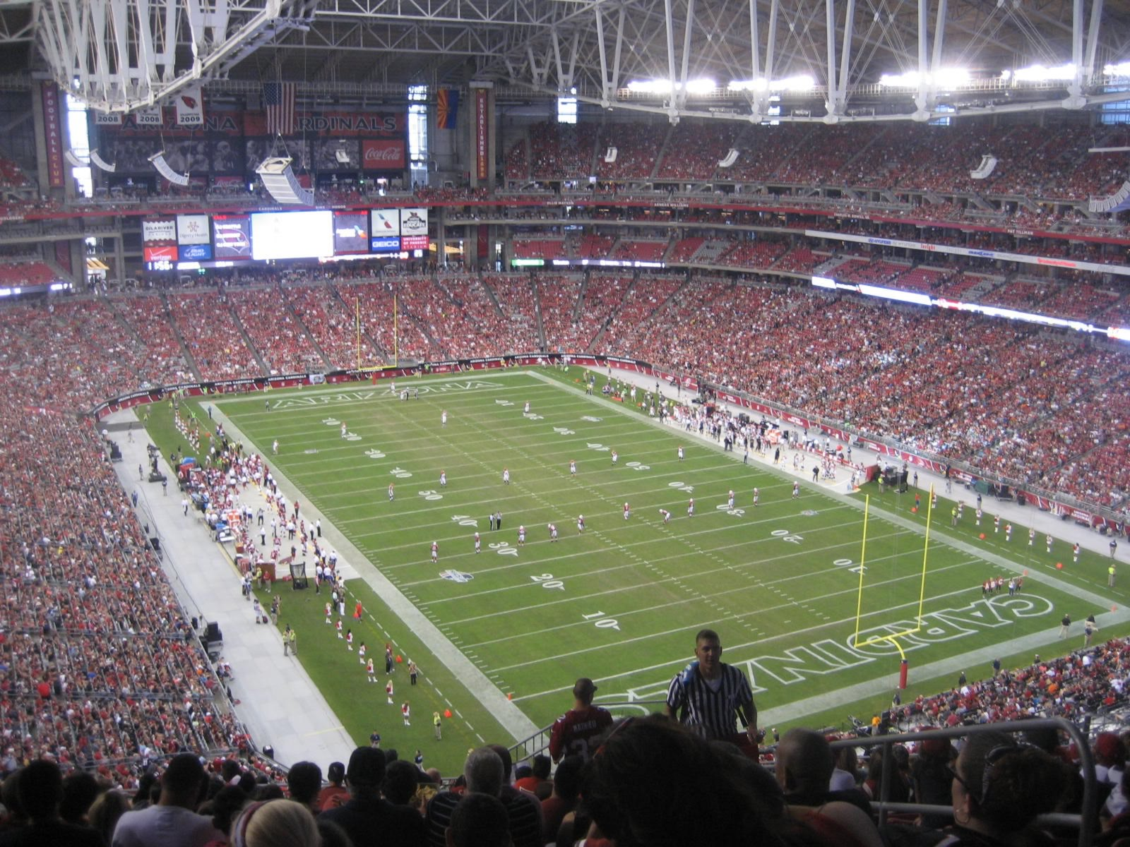 Arizona Cardinals Seat View for University of Phoenix Stadium Section 402, Row 14, Seat 3
