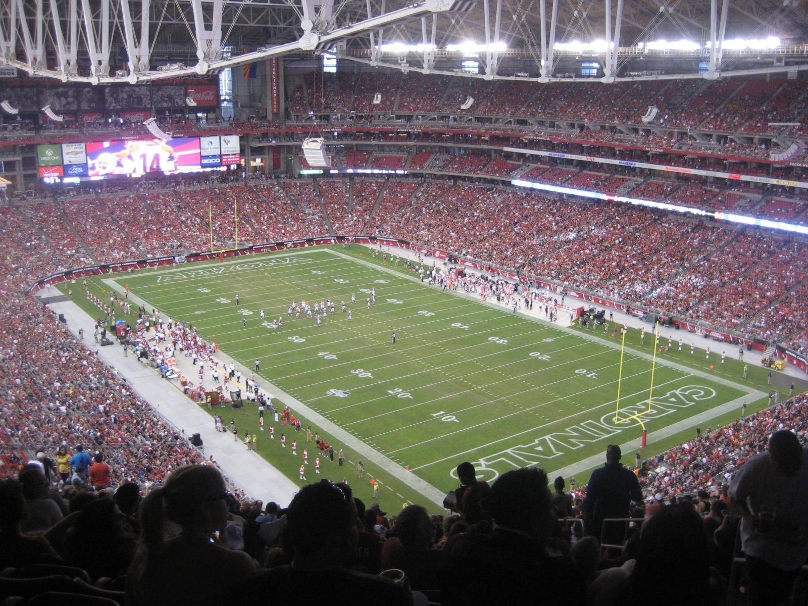 Arizona Cardinals Seat View for State Farm Stadium Section 403, Row 22, Seat 4