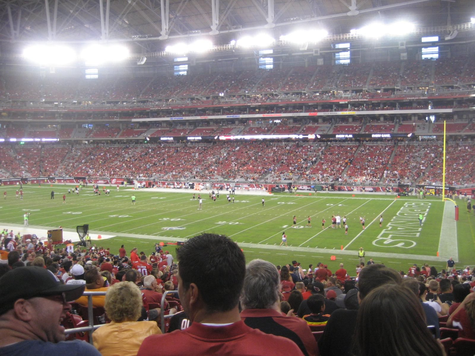 Arizona Cardinals Seat View for University of Phoenix Stadium Section 103, Row 38