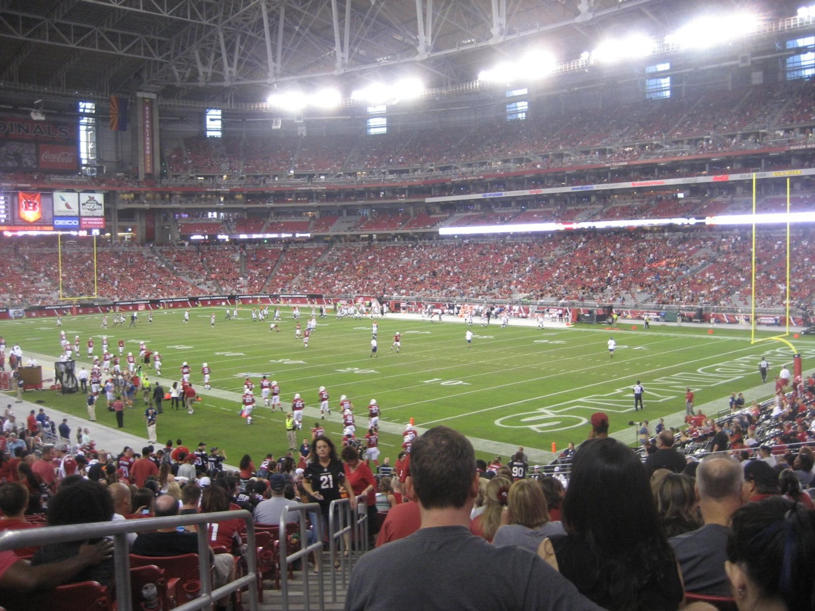 Arizona Cardinals Seat View for State Farm Stadium Section 102, Row 33