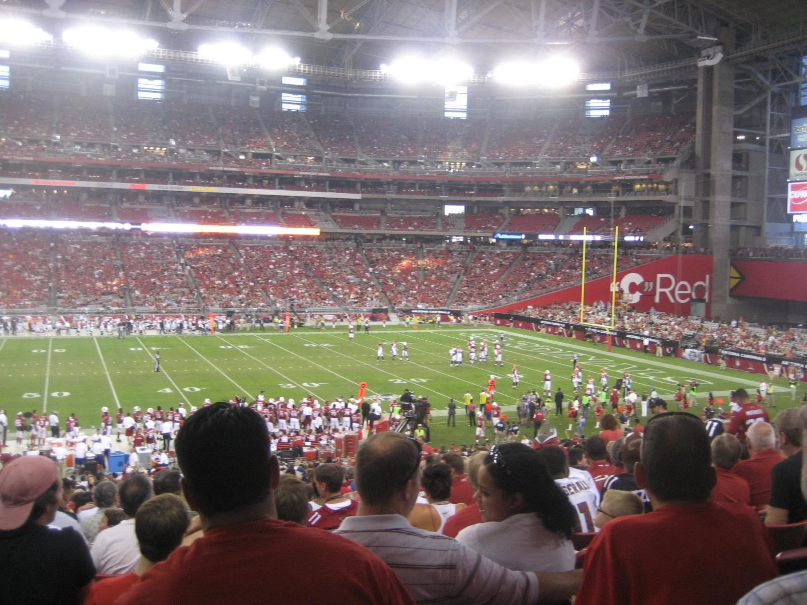Arizona Cardinals Seat View for State Farm Stadium Section 108, Row 40