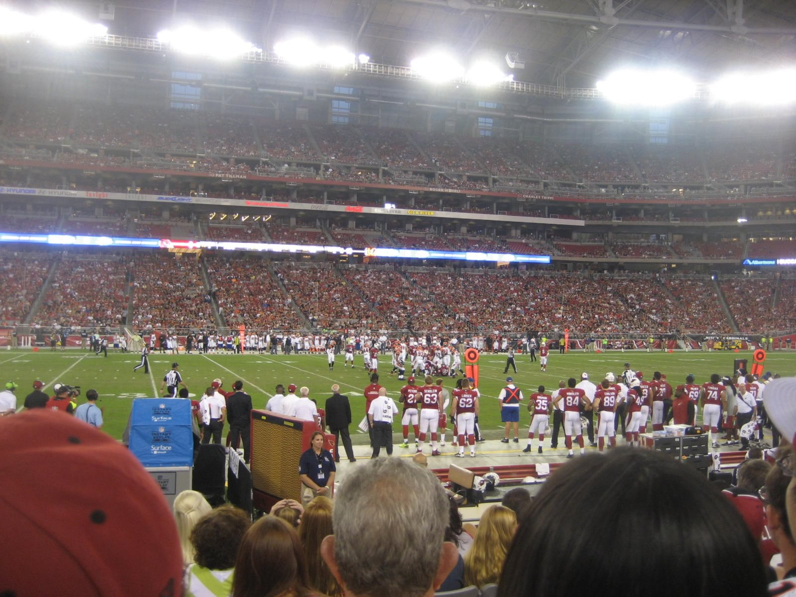Arizona Cardinals Seat View for University of Phoenix Stadium Section 110, Row 7, Seat 18