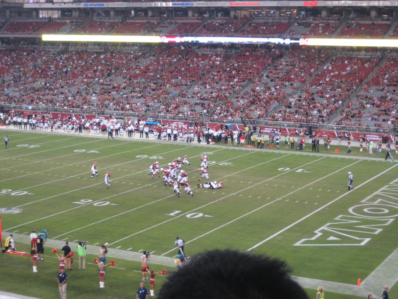 Arizona Cardinals Seat View for State Farm Stadium Section 231, Row 2, Seat 1
