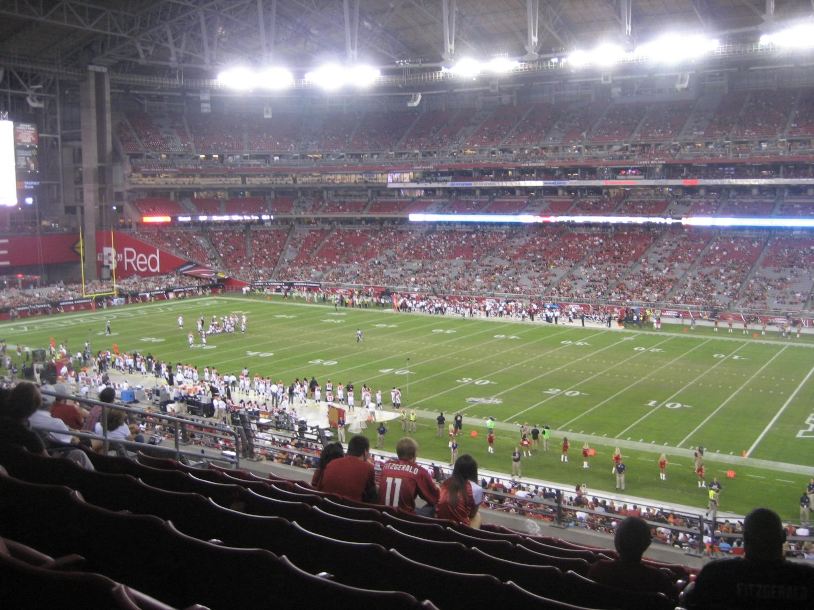 Arizona Cardinals Seat View for University of Phoenix Stadium Section 232, Row 9, Seat 8