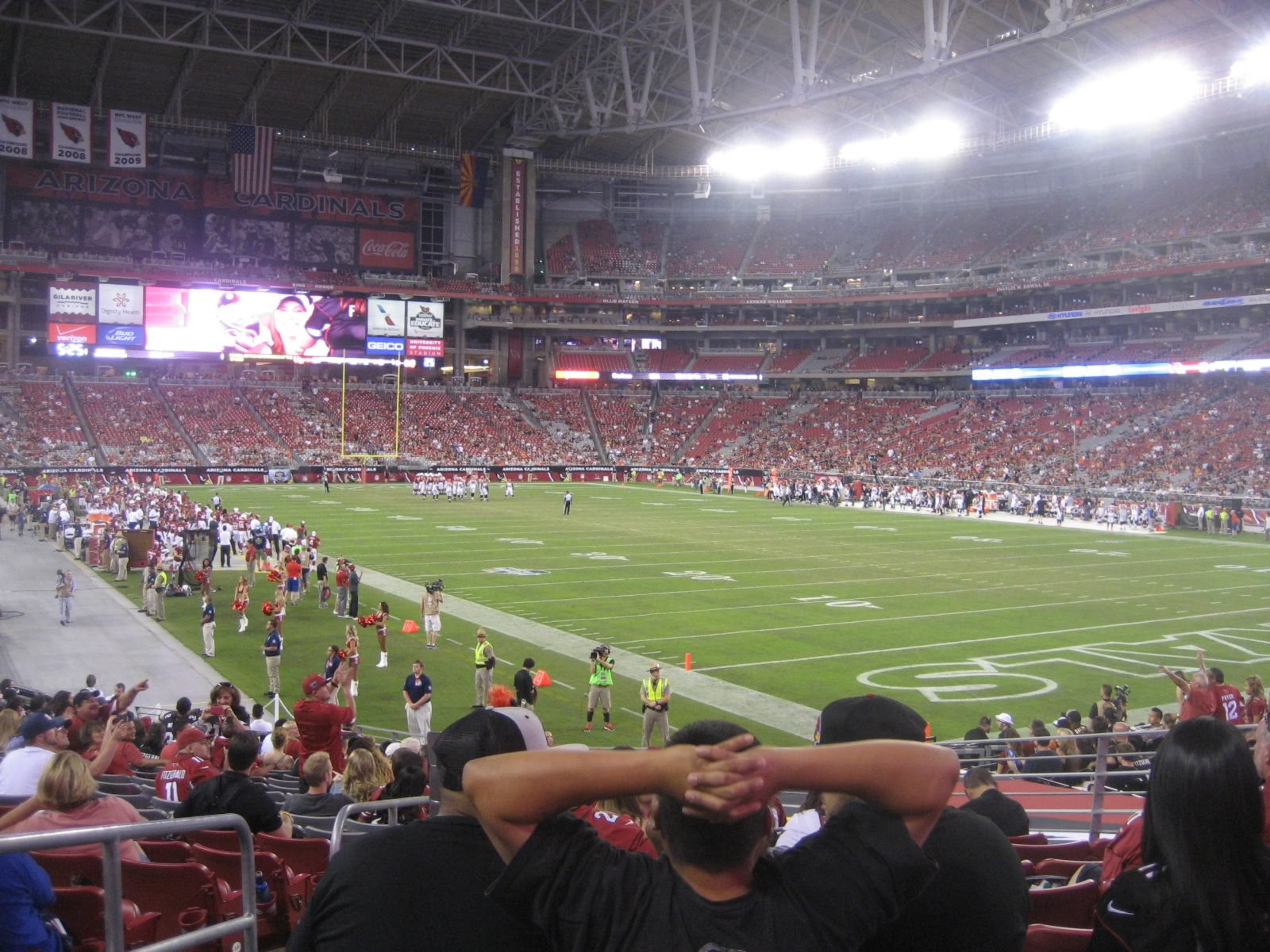 Arizona Cardinals Seat View for University of Phoenix Stadium Section 101, Row 21, Seat 13
