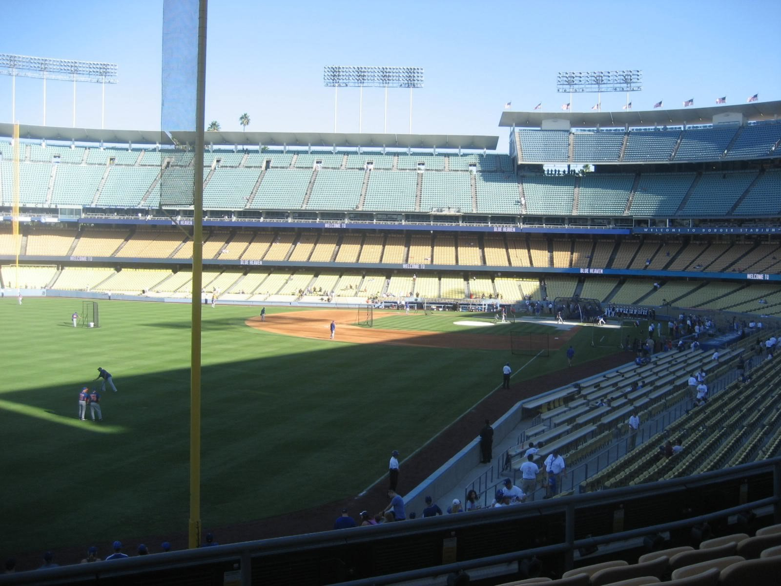 Seat View for Dodger Stadium Section 163, Row E, Seat 12