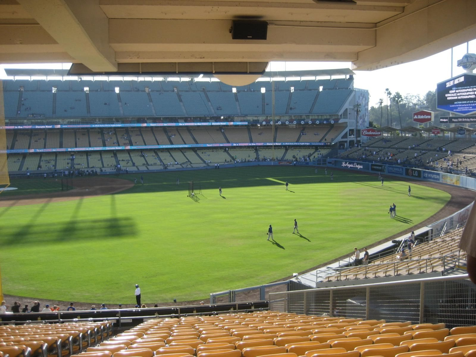 Seat View for Dodger Stadium Section 168, Row V, Seat 3