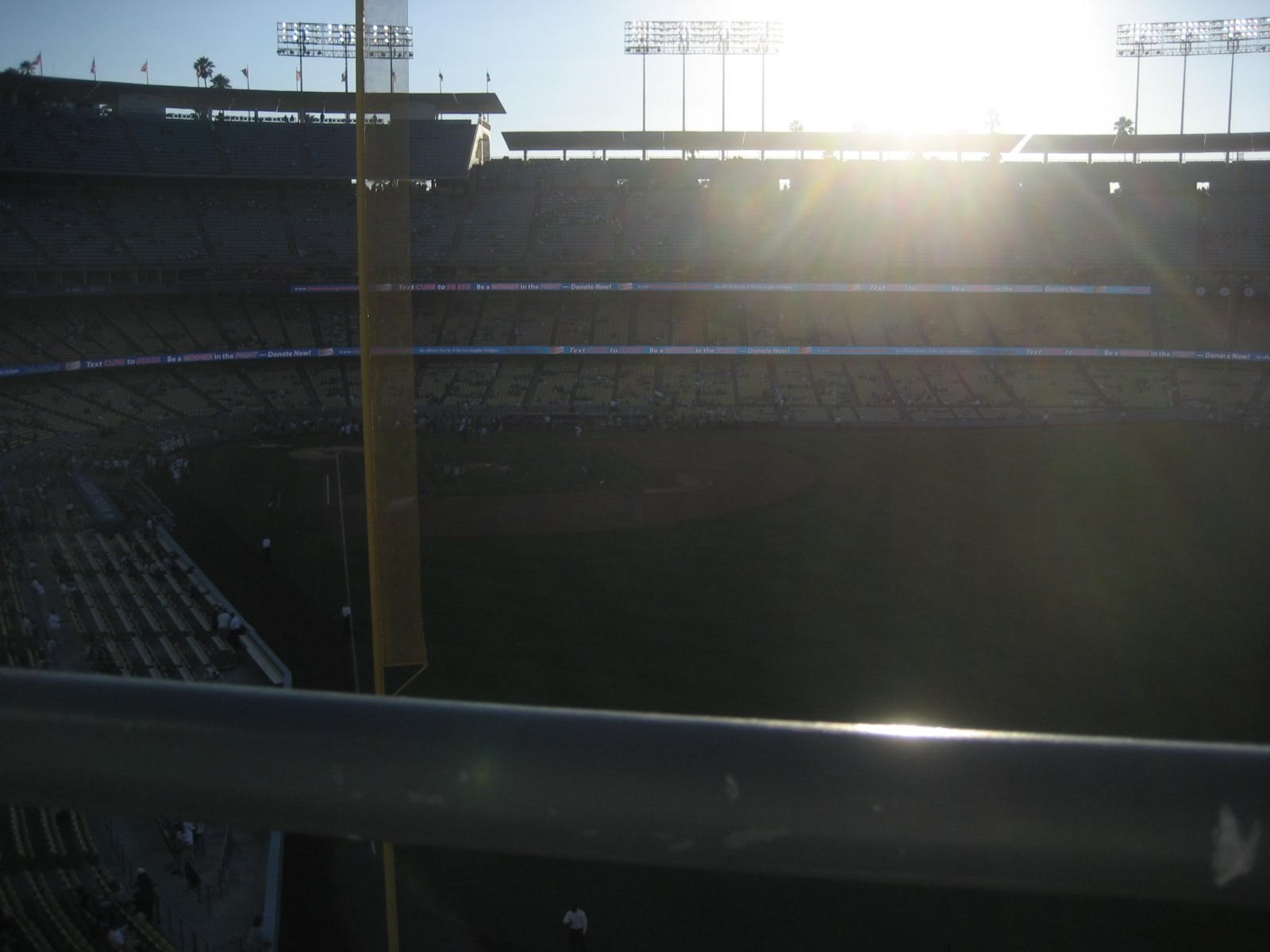 Seat View for Dodger Stadium Lower Reserve 60