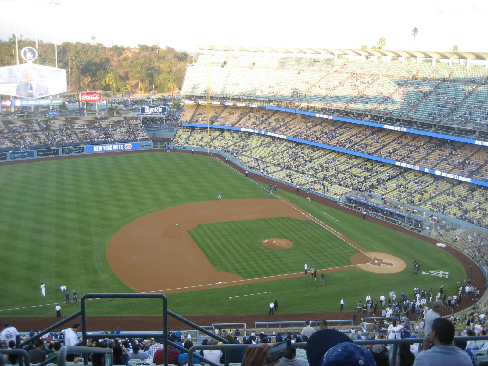Seat View for Dodger Stadium Infield Reserve 21, Row FF