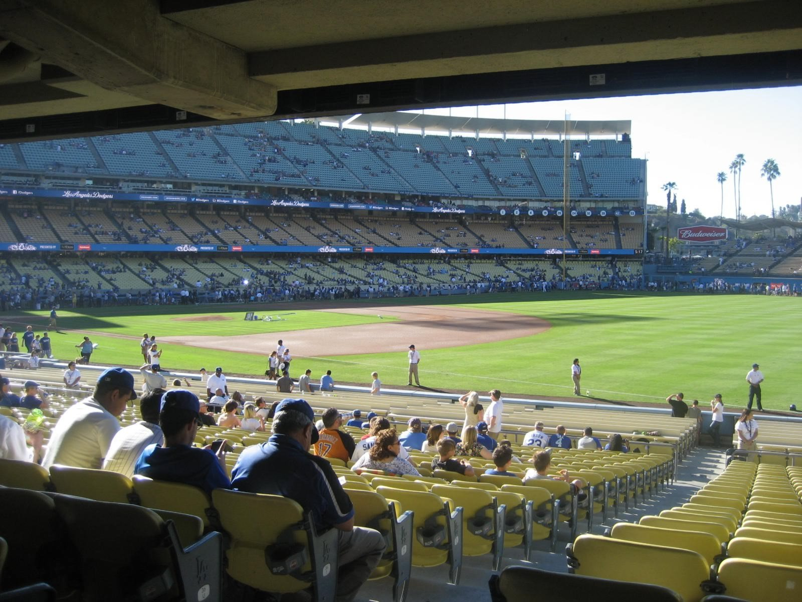 Seat View for Dodger Stadium Section 38, Row X, Seat 2