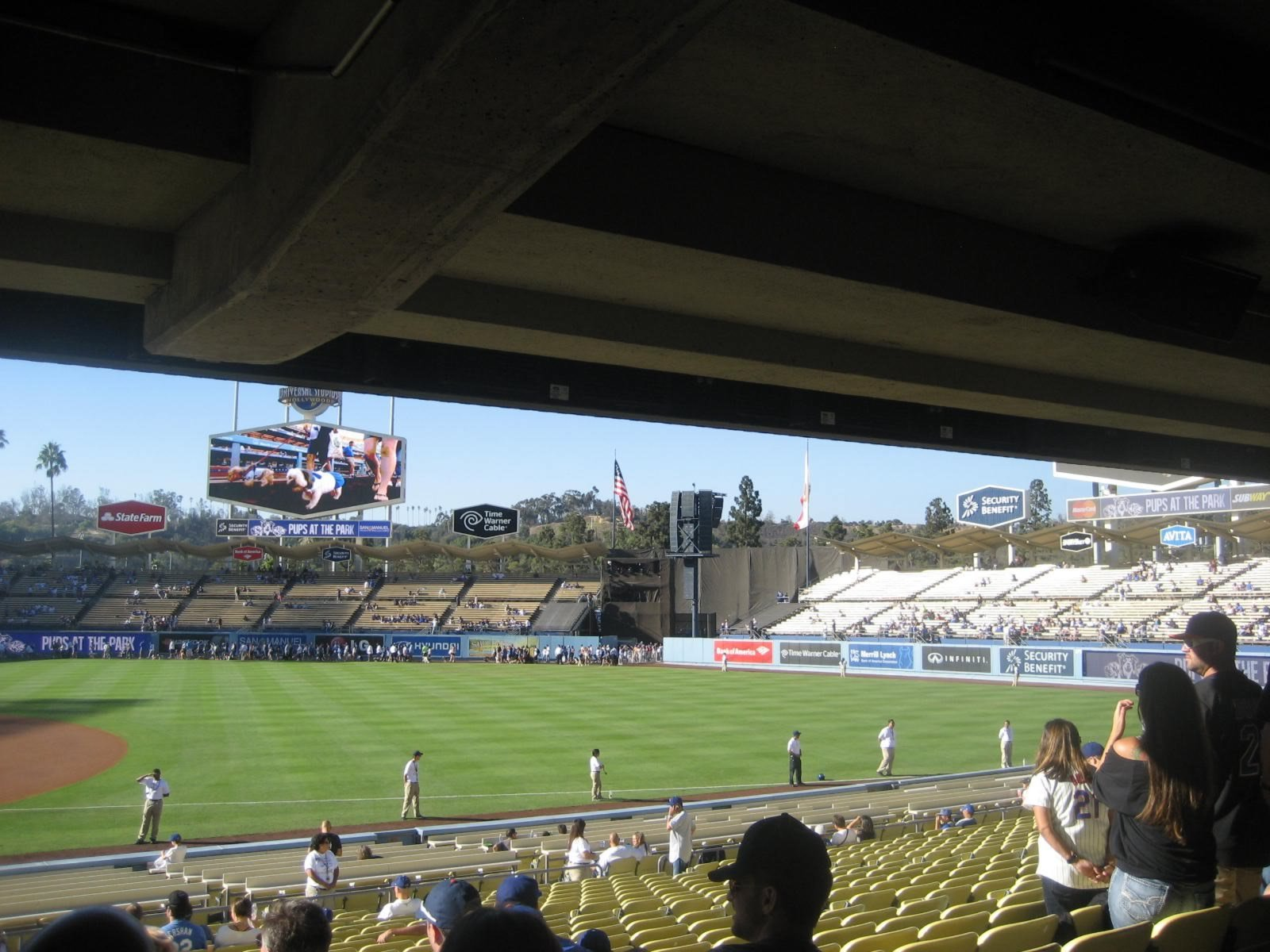 Seat View for Dodger Stadium Section 26, Row X, Seat 6