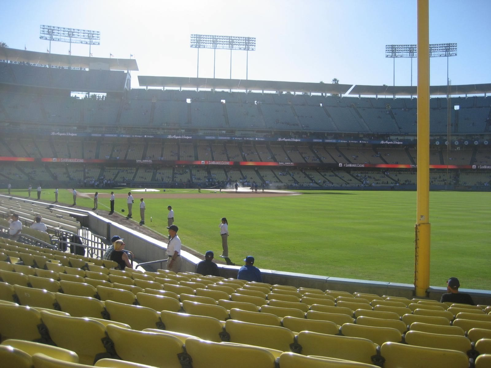 Seat View for Dodger Stadium Section 48, Row L, Seat 15