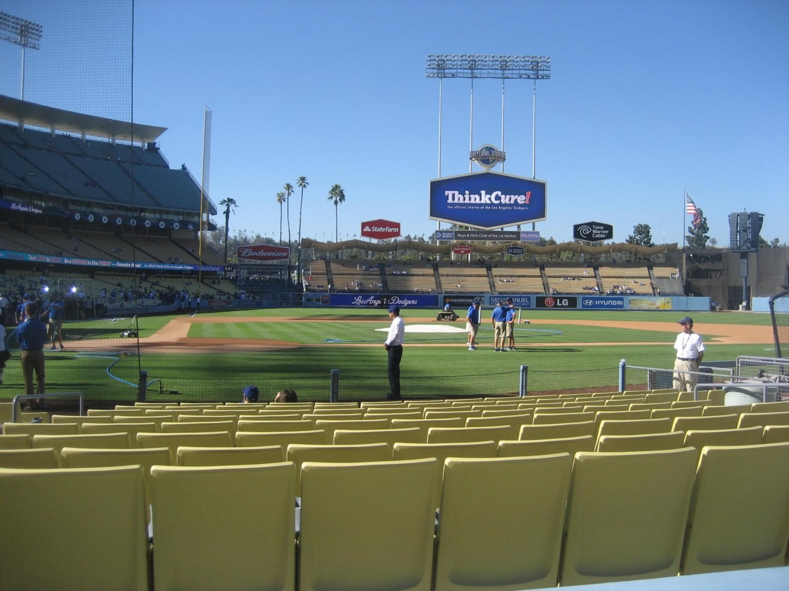 Seat View for Dodger Stadium Section 10, Row B, Seat 5