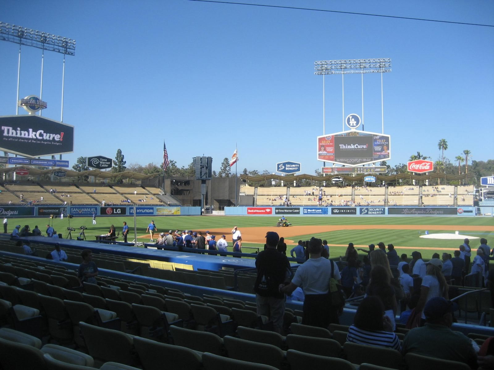Seat View for Dodger Stadium Section 13, Row K, Seat 1