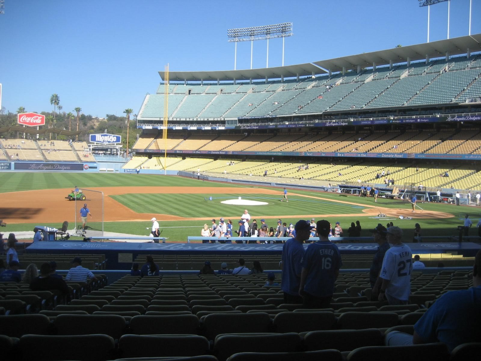 Seat View for Dodger Stadium Section 23, Row V, Seat 6