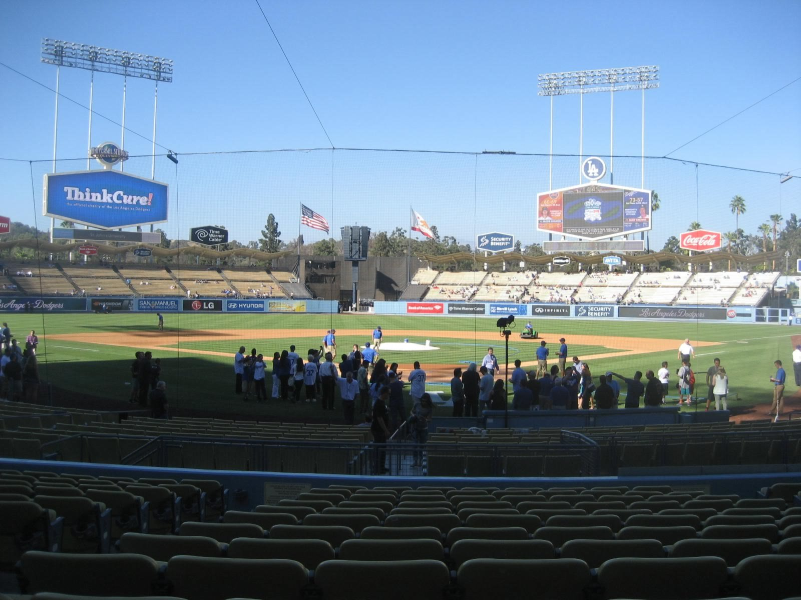 Seat View for Dodger Stadium Section 1, Row N, Seat 9