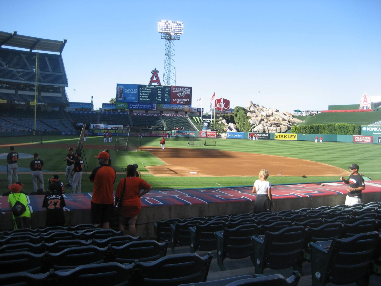 Seat View for Angel Stadium Section 124, Row L, Seat 16
