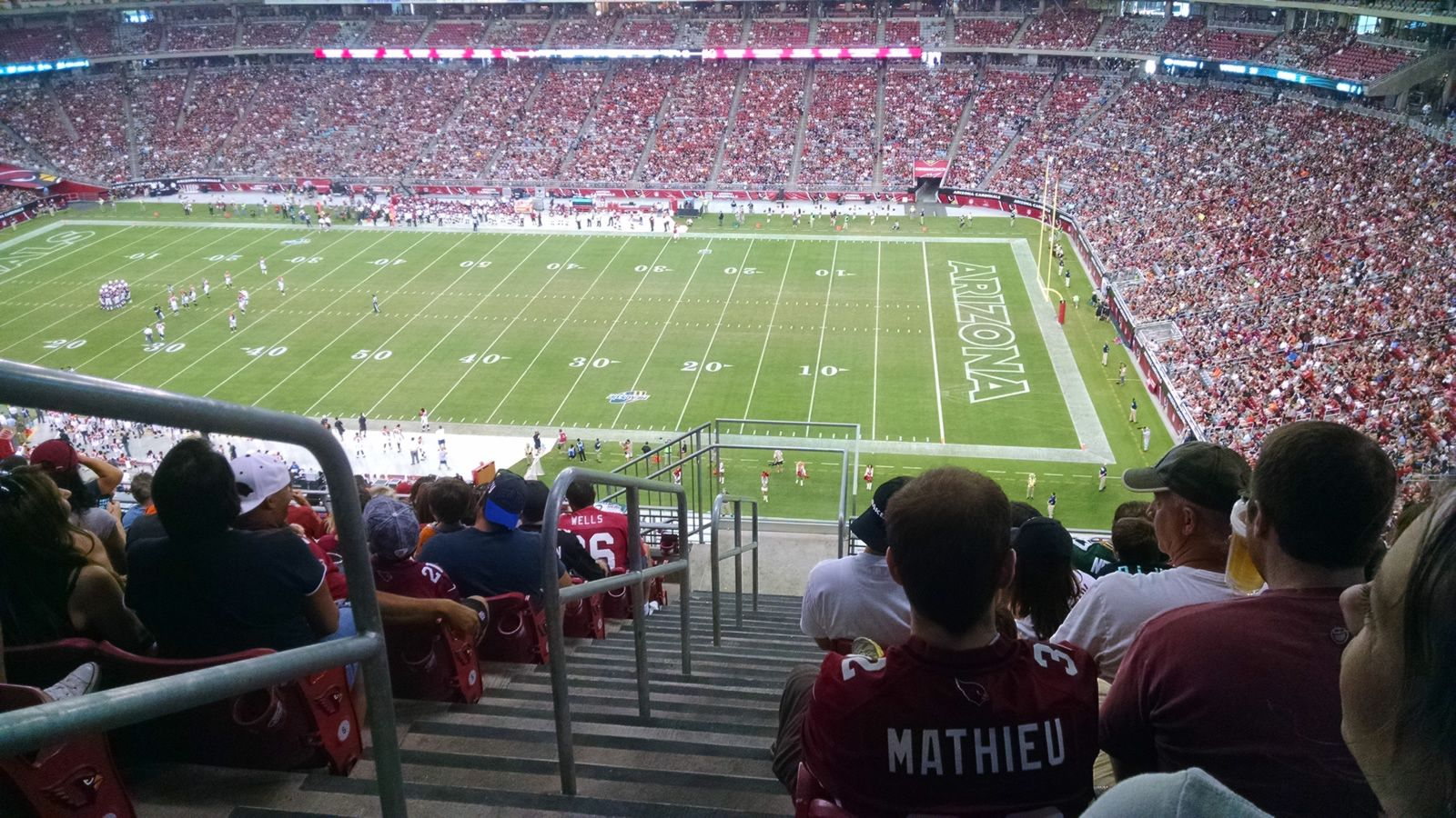Arizona Cardinals Seat View for University of Phoenix Stadium Section 439, Row 9, Seat 17