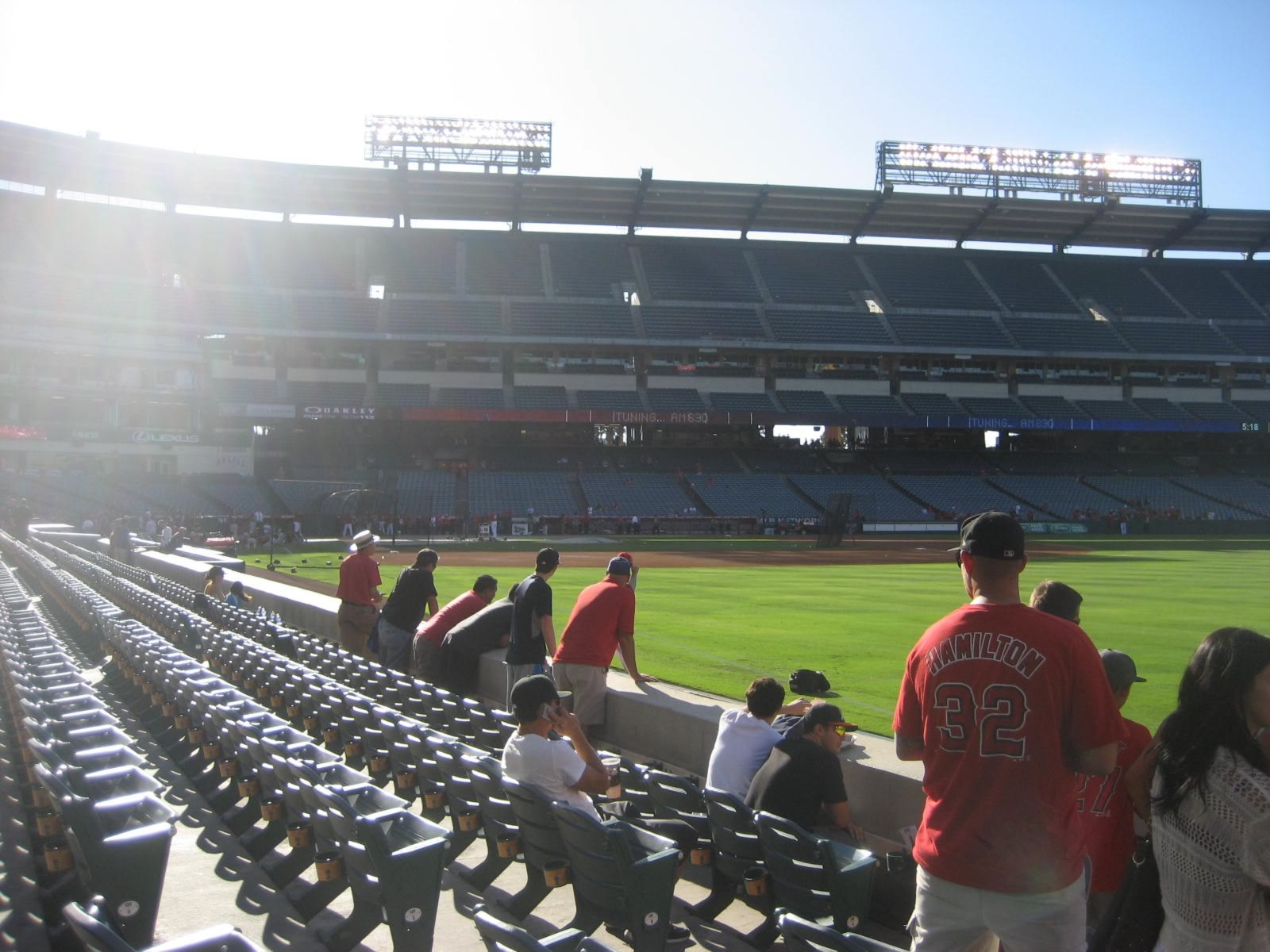 Seat View for Angel Stadium Section 131, Row E, Seat 8