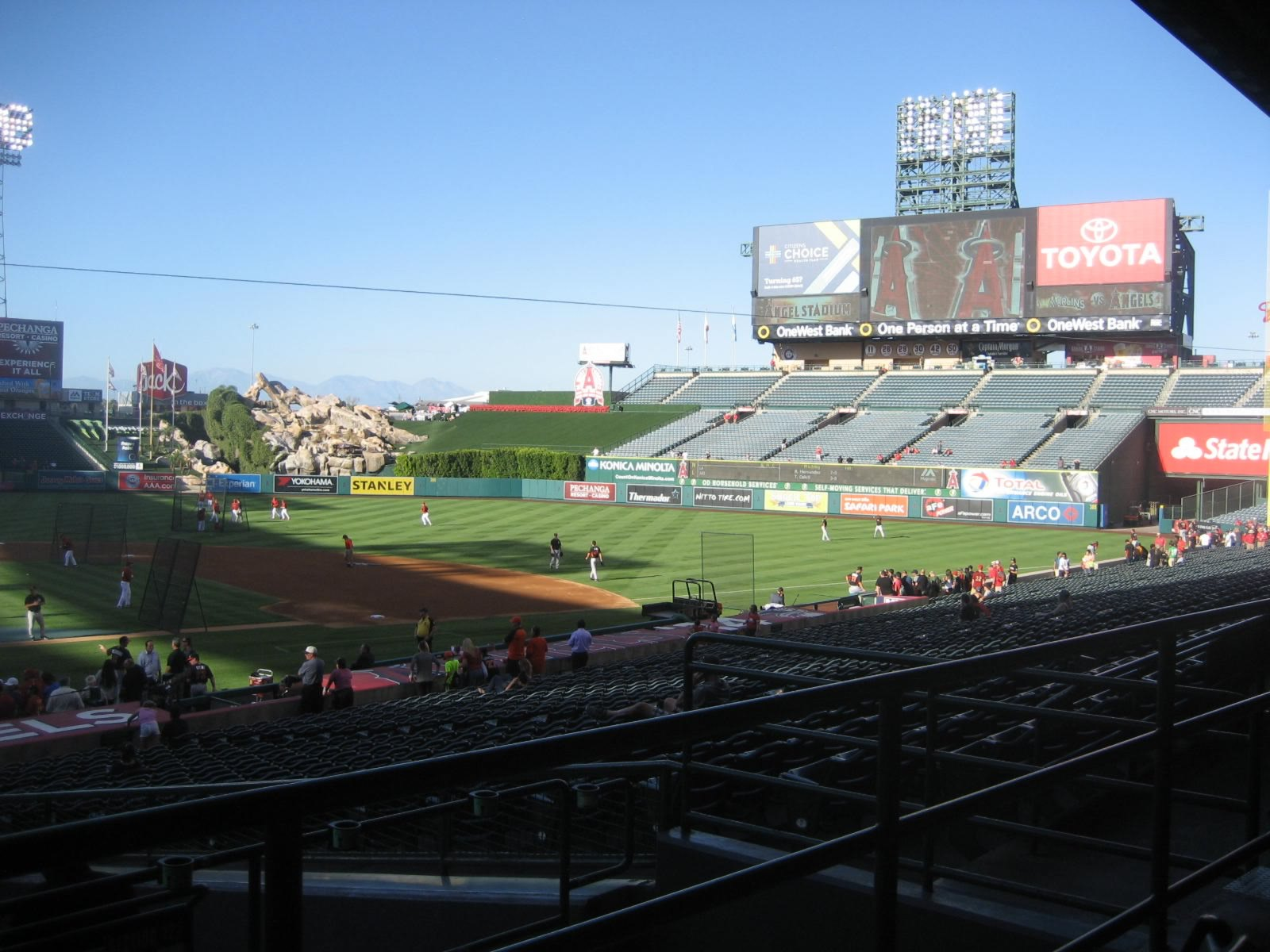 Seat View for Angel Stadium Section 221, Row B, Seat 16