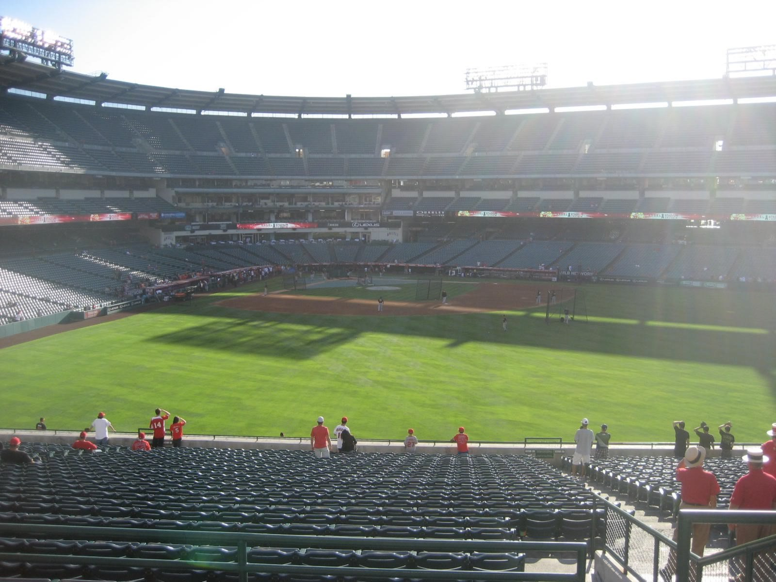 Seat View for Angel Stadium Section 246, Row D