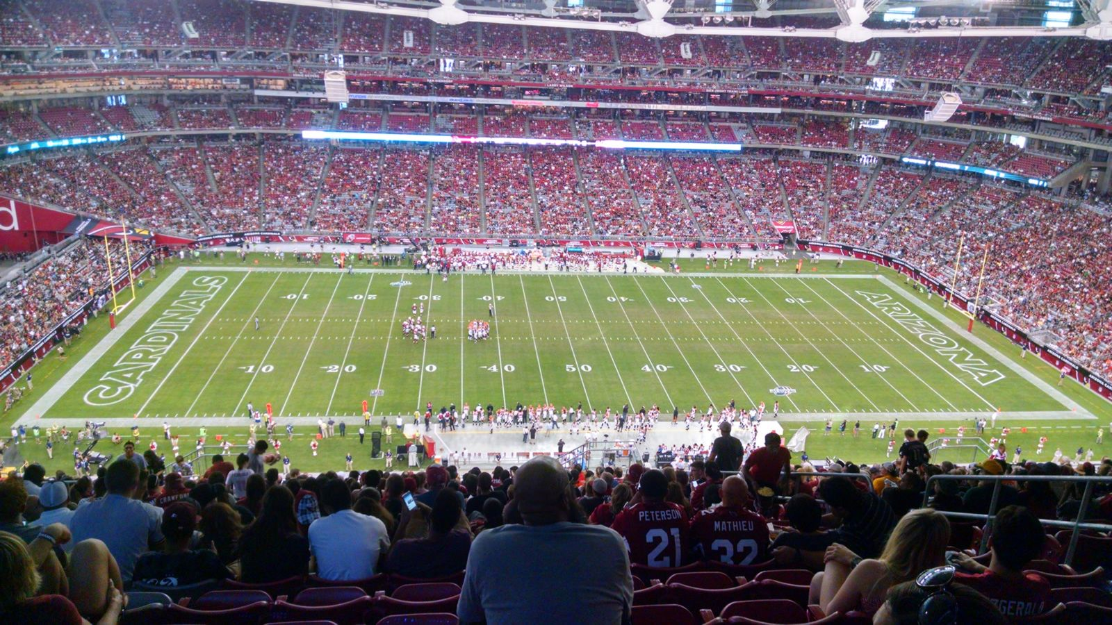 Arizona Cardinals Seat View for University of Phoenix Stadium Section 445, Row 23, Seat 9