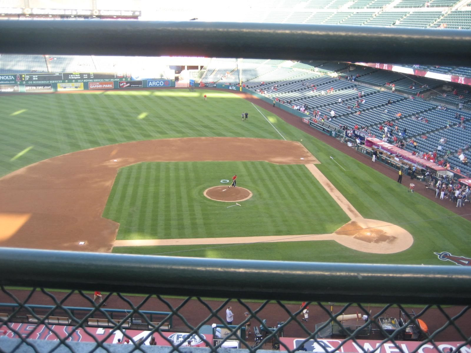 Seat View for Angel Stadium Section 413, Row A, Seat 2