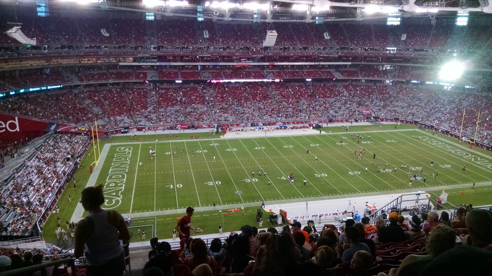 Arizona Cardinals Seat View for State Farm Stadium Section 447, Row 12, Seat 18