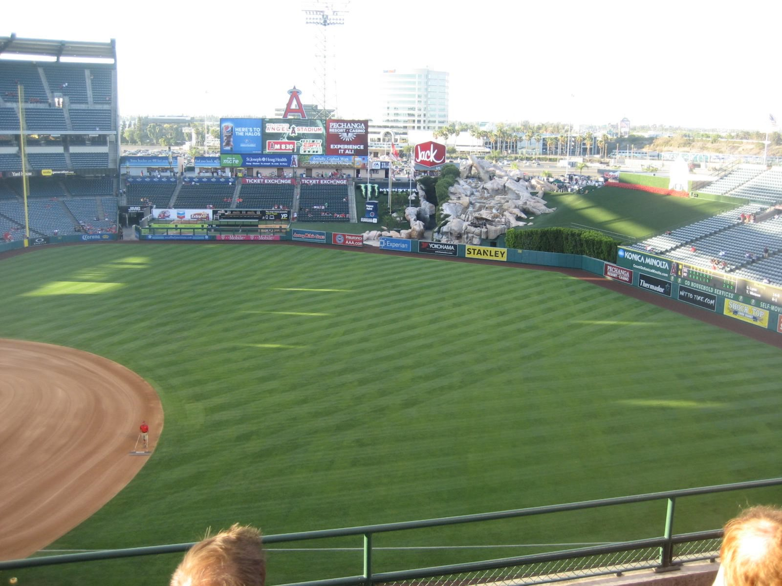 Seat View for Angel Stadium Section 427, Row E, Seat 14