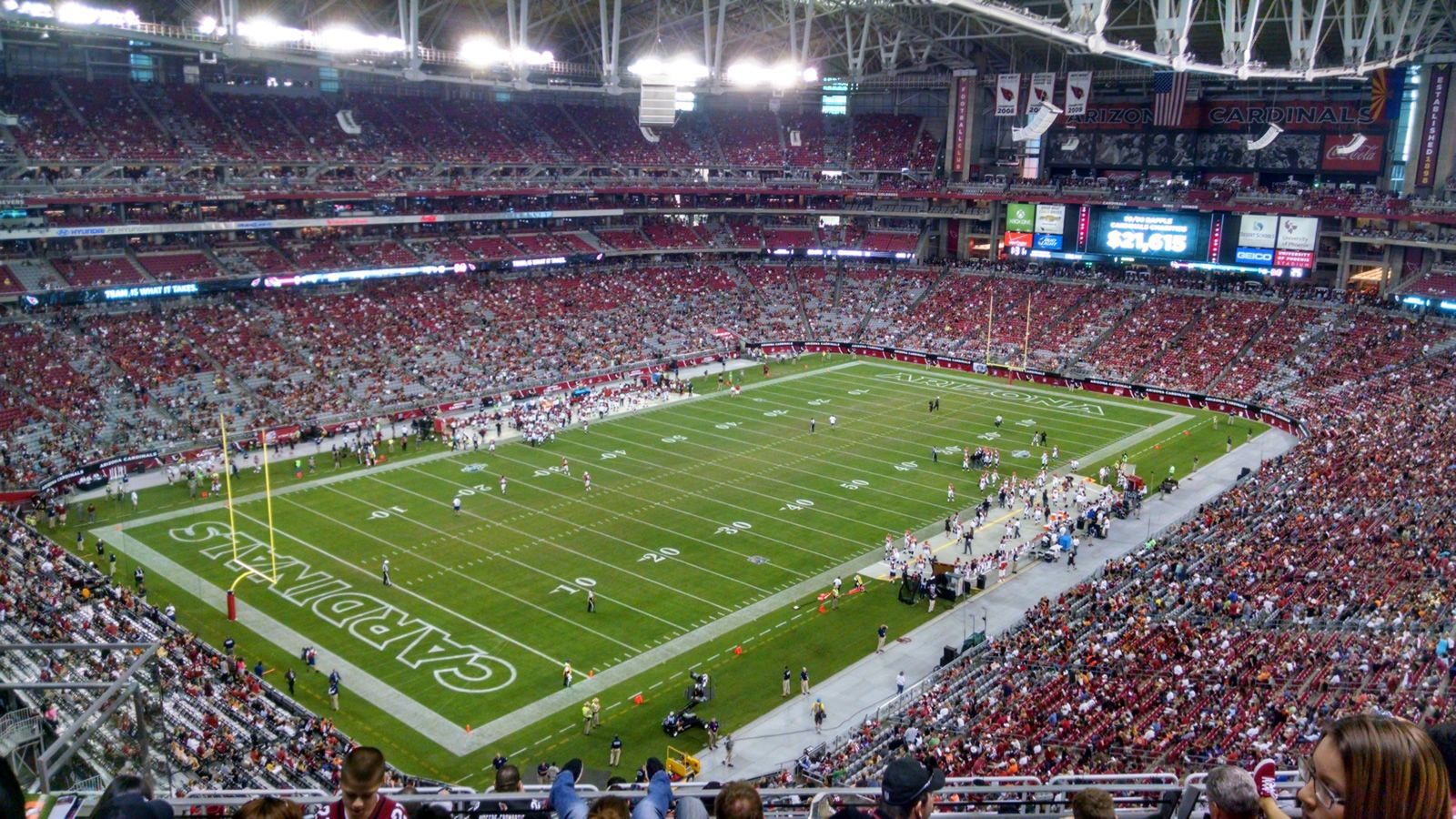 Arizona Cardinals Seat View for University of Phoenix Stadium Section 452, Row 6, Seat 18