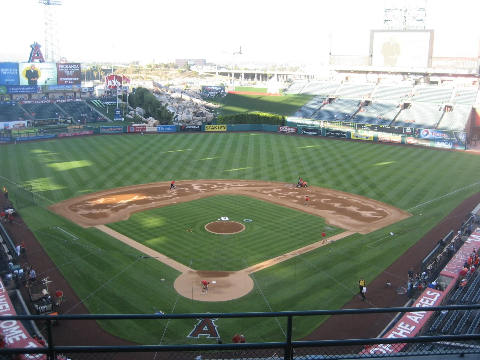 Seat View for Angel Stadium Section 419, Row F