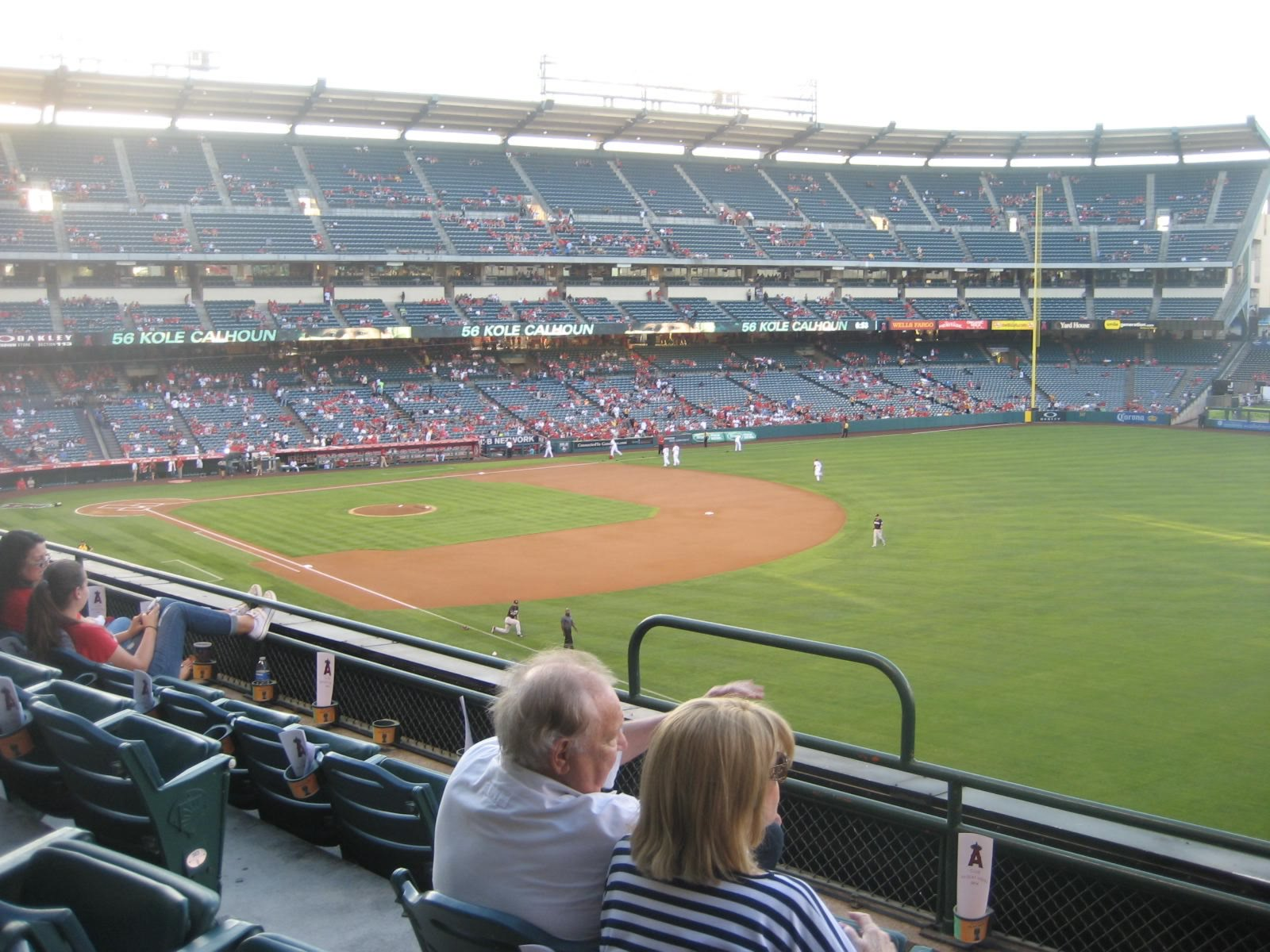 Seat View for Angel Stadium Section 344, Row D, Seat 5
