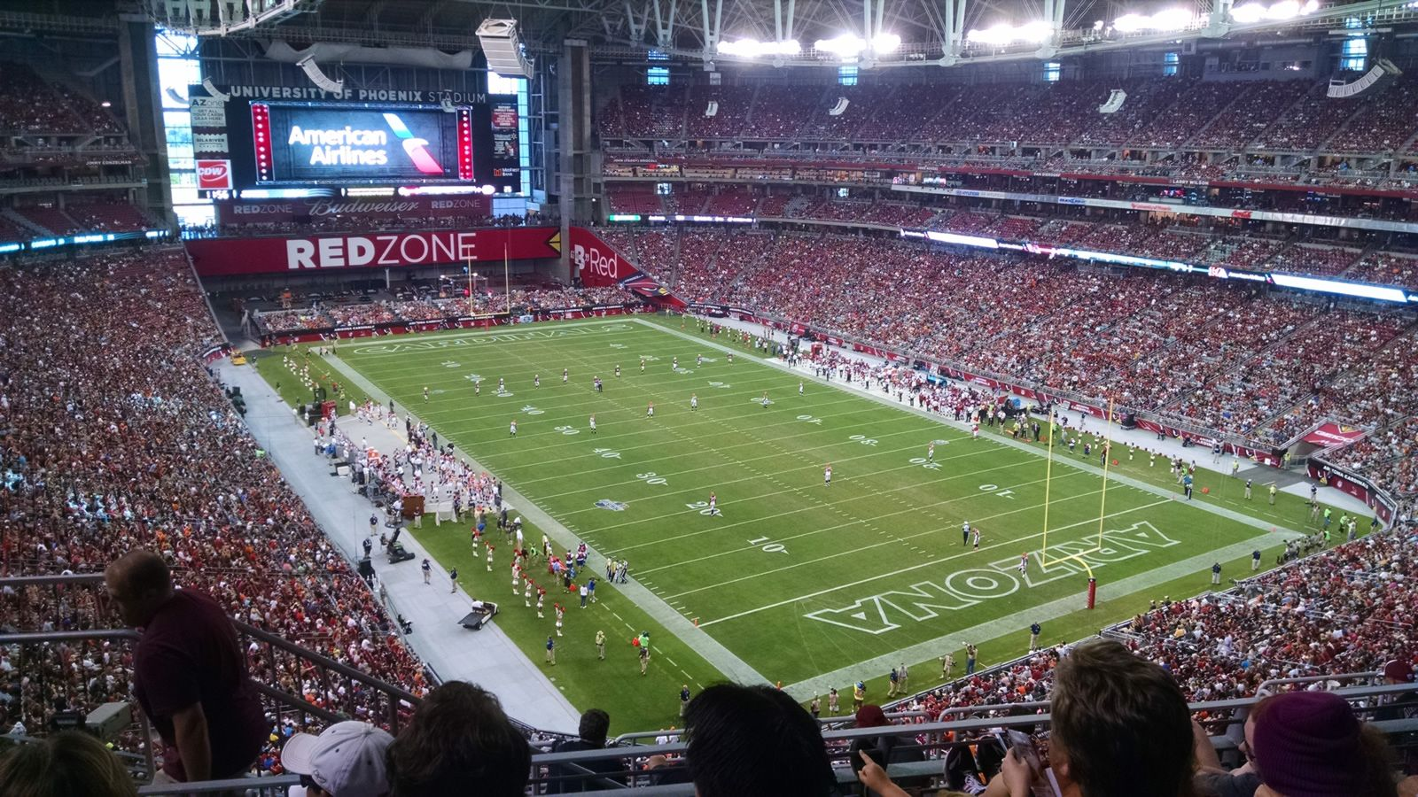 Arizona Cardinals Seat View for University of Phoenix Stadium Section 433, Row 4, Seat 19
