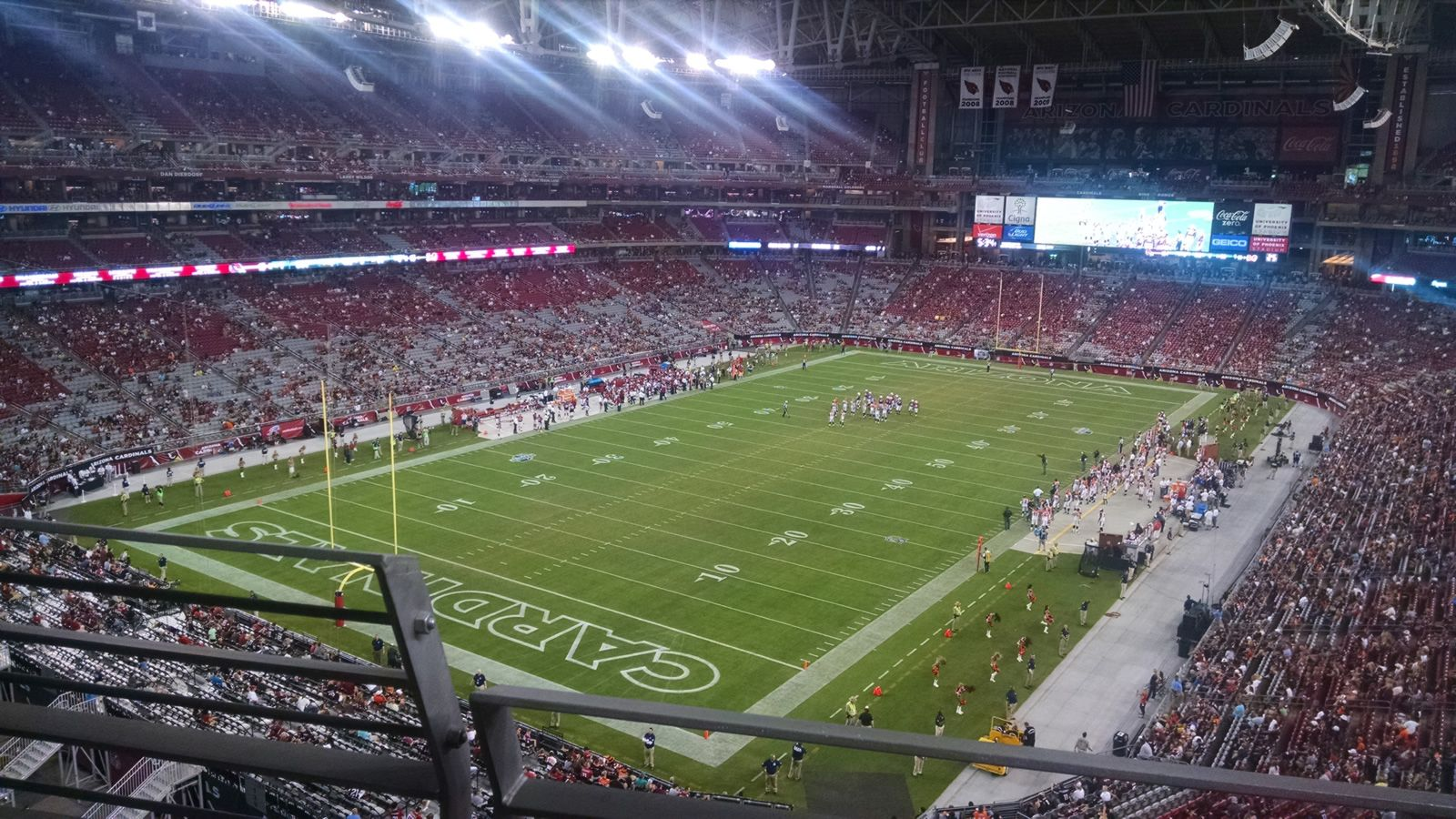 Arizona Cardinals Seat View for State Farm Stadium Section 454, Row B, Seat 19
