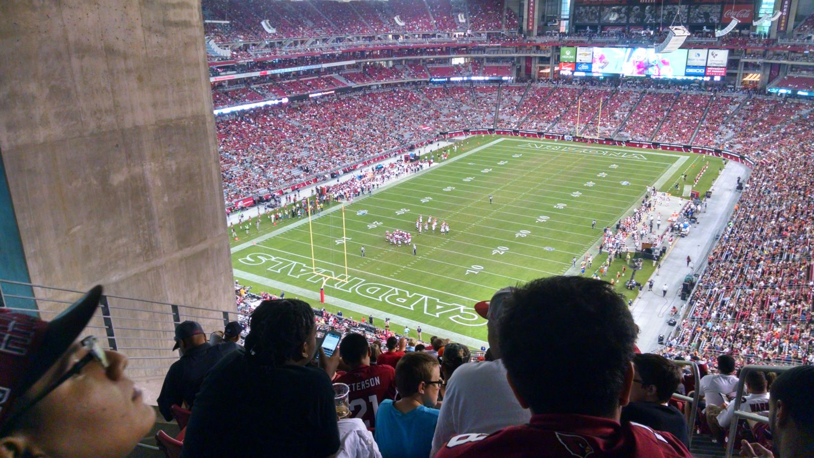 Arizona Cardinals Seat View for University of Phoenix Stadium Section 455, Row 16, Seat 2
