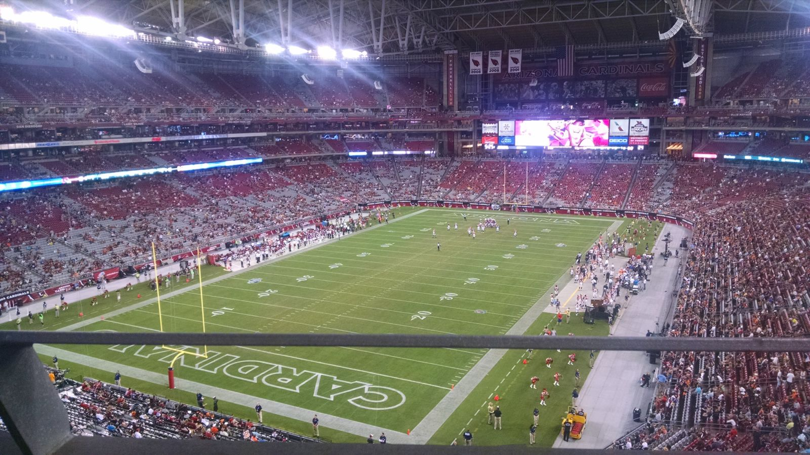 Arizona Cardinals Seat View for State Farm Stadium Section 455, Row A, Seat 6