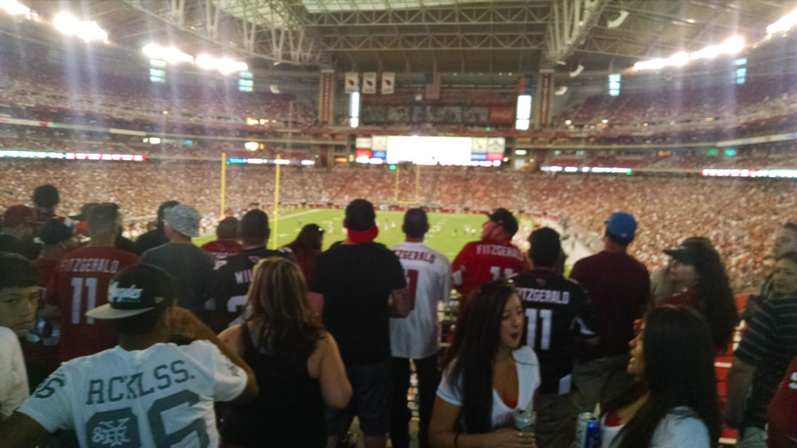 Arizona Cardinals Seat View for State Farm Stadium Standing Room Only, Row General