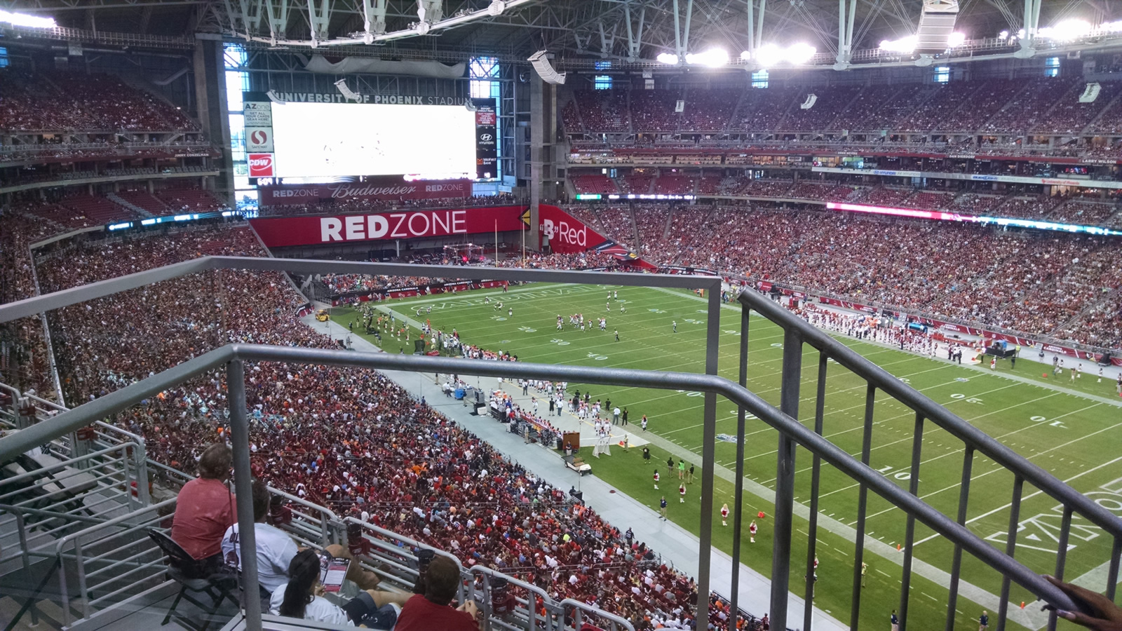 Arizona Cardinals Seat View for State Farm Stadium Section 435, Row 1, Seat 22