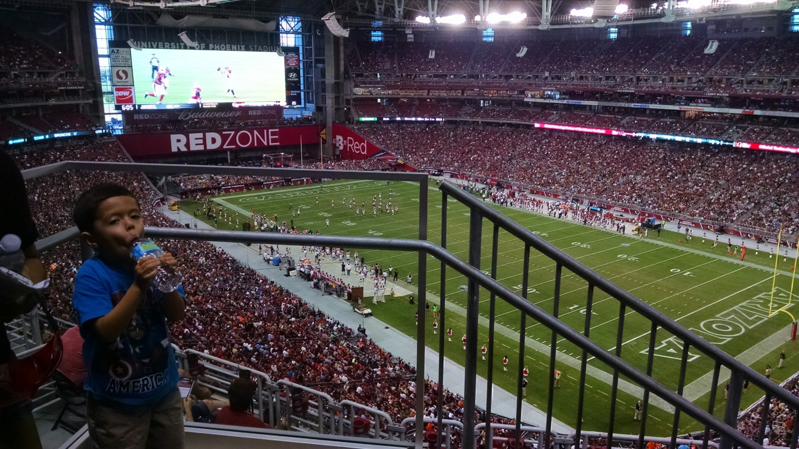 Arizona Cardinals Seat View for University of Phoenix Stadium Section 435, Row 1, Seat 22