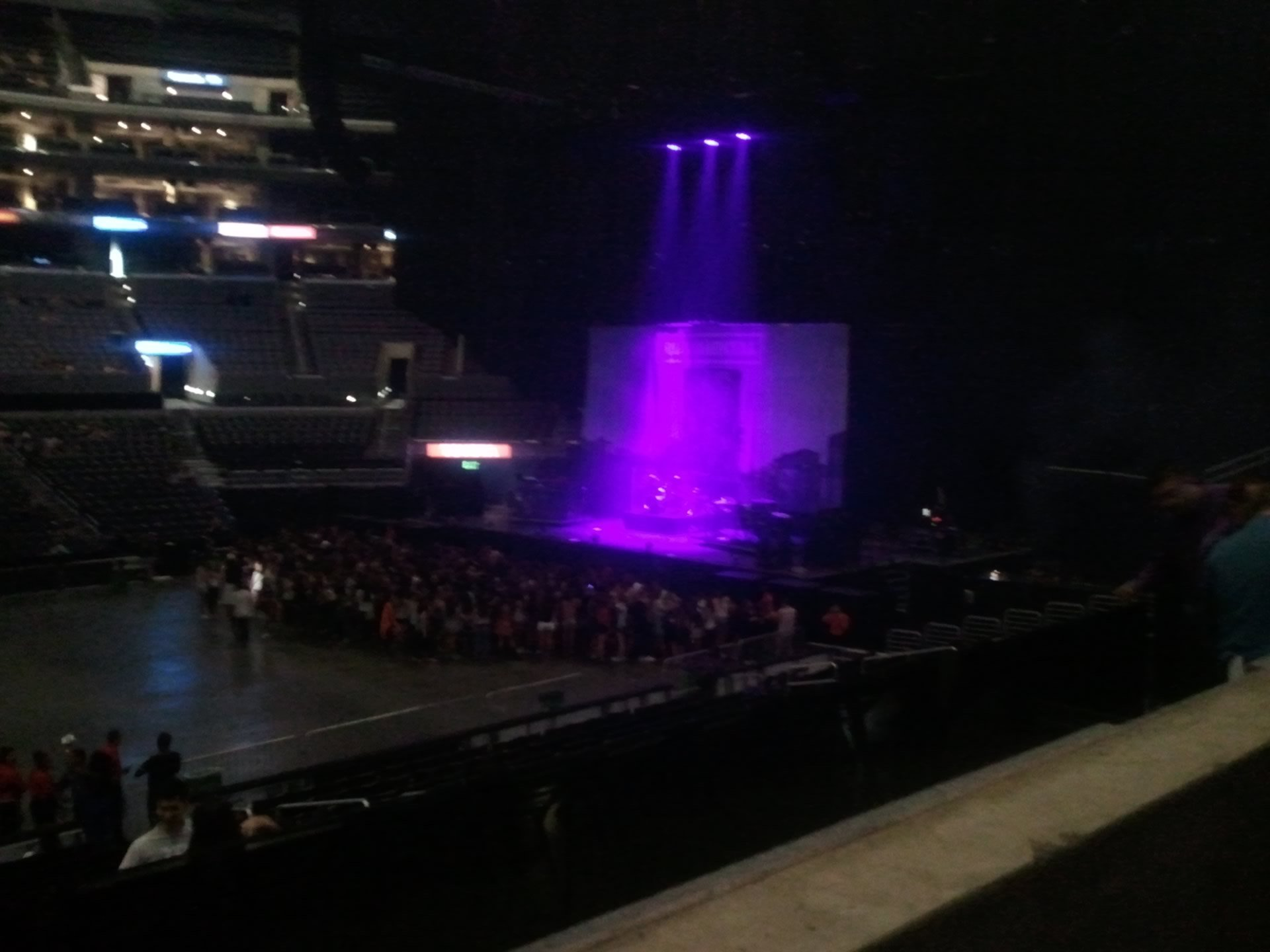Concert Seat View for Staples Center Section 5, Row 1, Seat 11