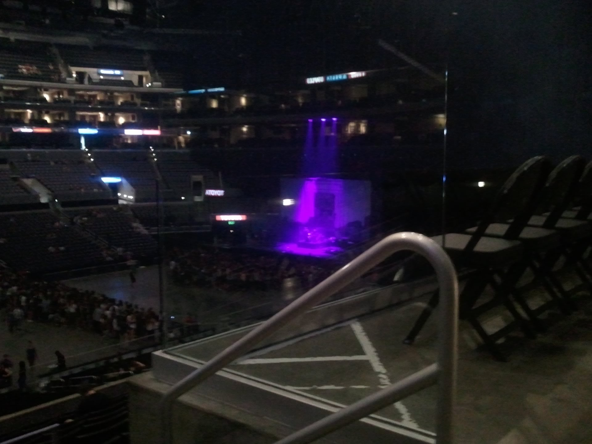 Concert Seat View for Staples Center Section 7
