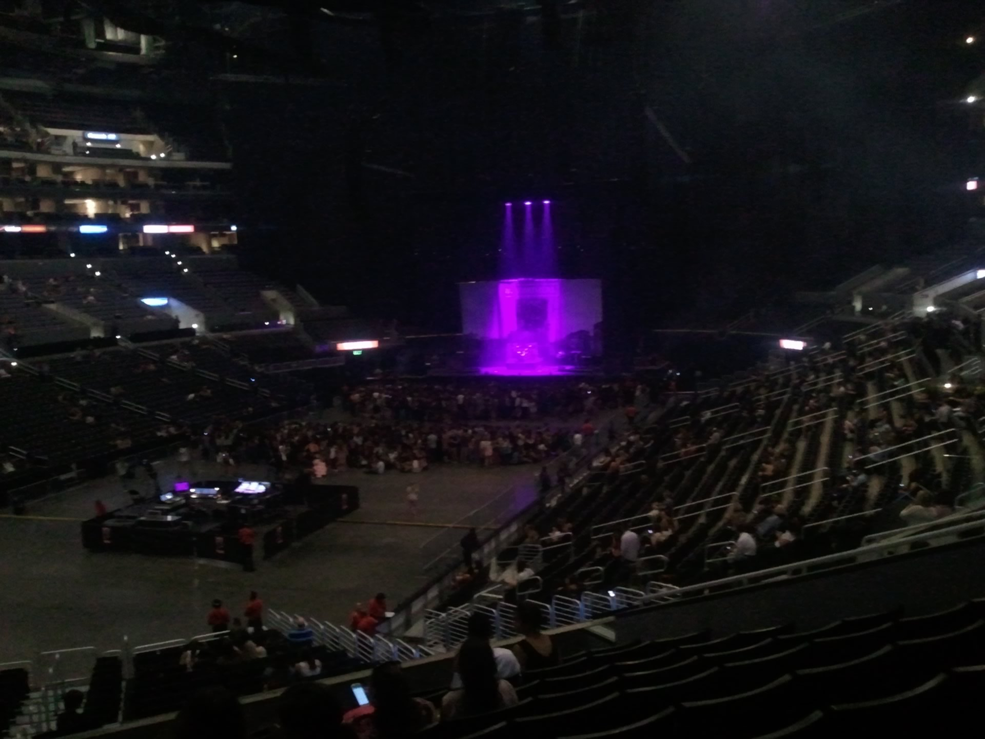 Concert Seat View for Staples Center Section 205, Row 10