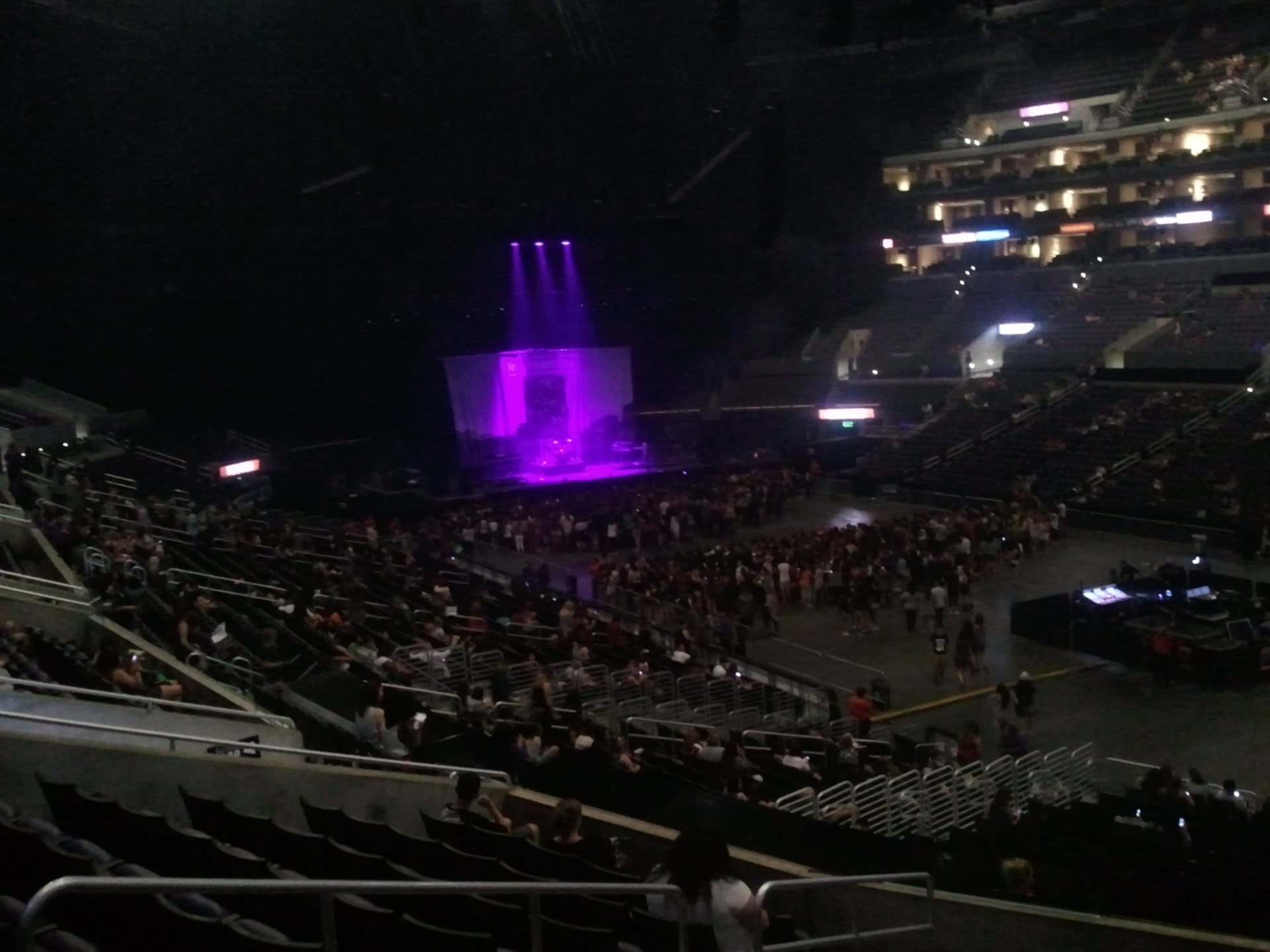 Concert Seat View for Staples Center Section 10, Row 9, Seat 3