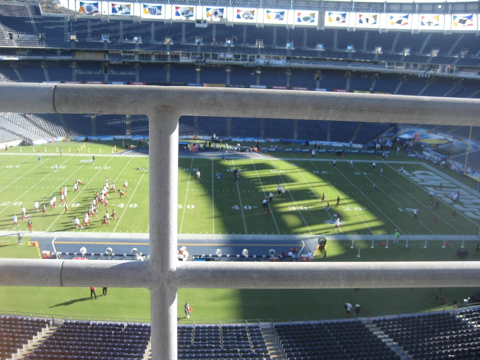 Seat View for SDCCU Stadium View Level 6V, Row 1, Seat 8