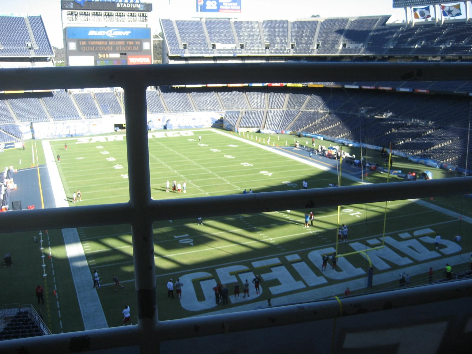 Seat View for SDCCU Stadium Press Level 18, Row 1
