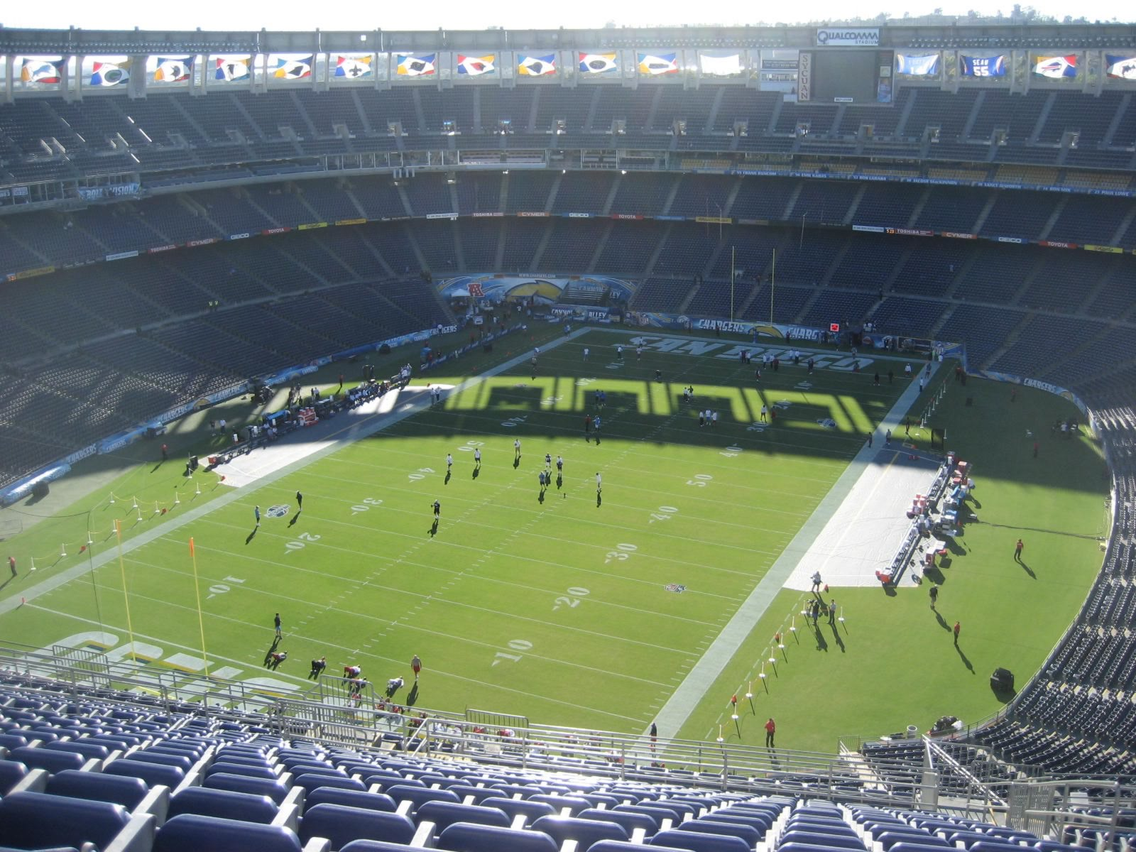 Seat View for Qualcomm Stadium View Level 56V, Row 25