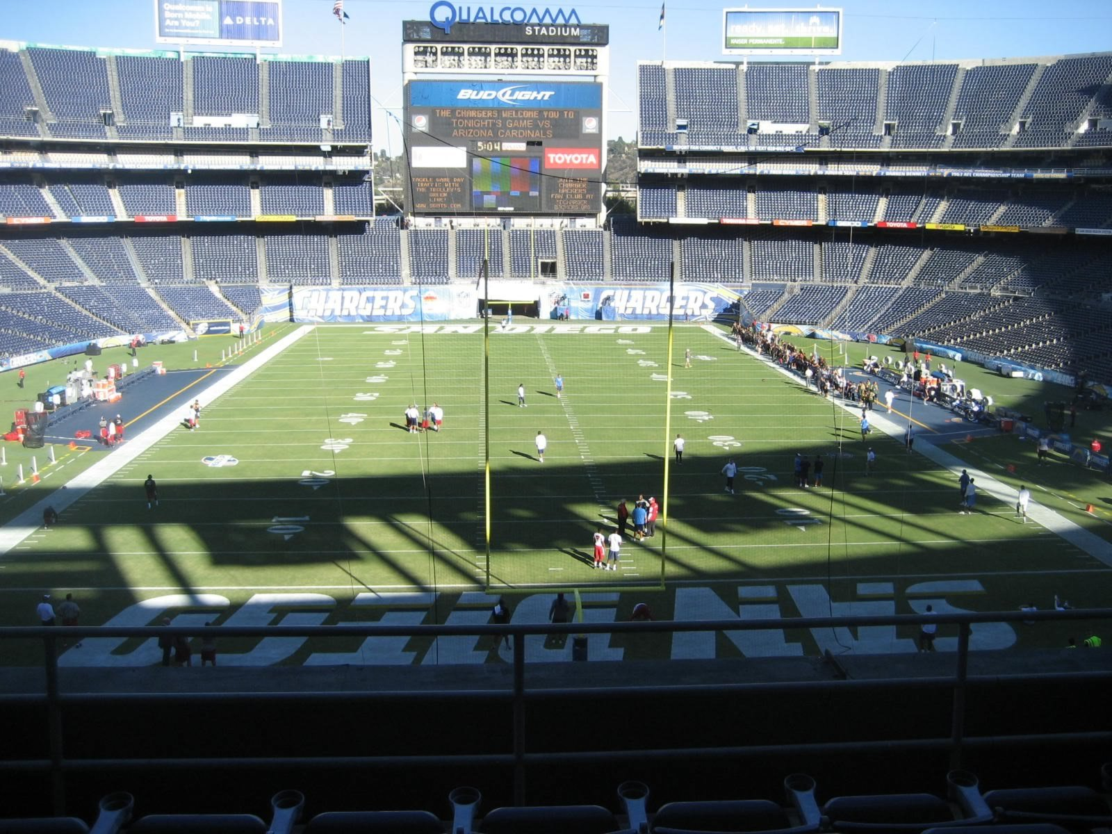 Seat View for Qualcomm Stadium Loge 21, Row 5, Seat 4