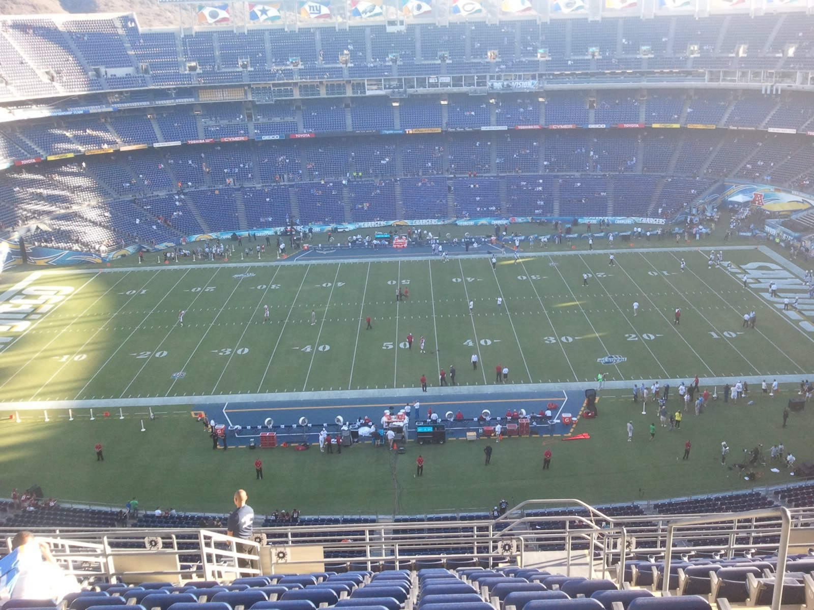 Seat View for Qualcomm Stadium View Level 6V, Row 17