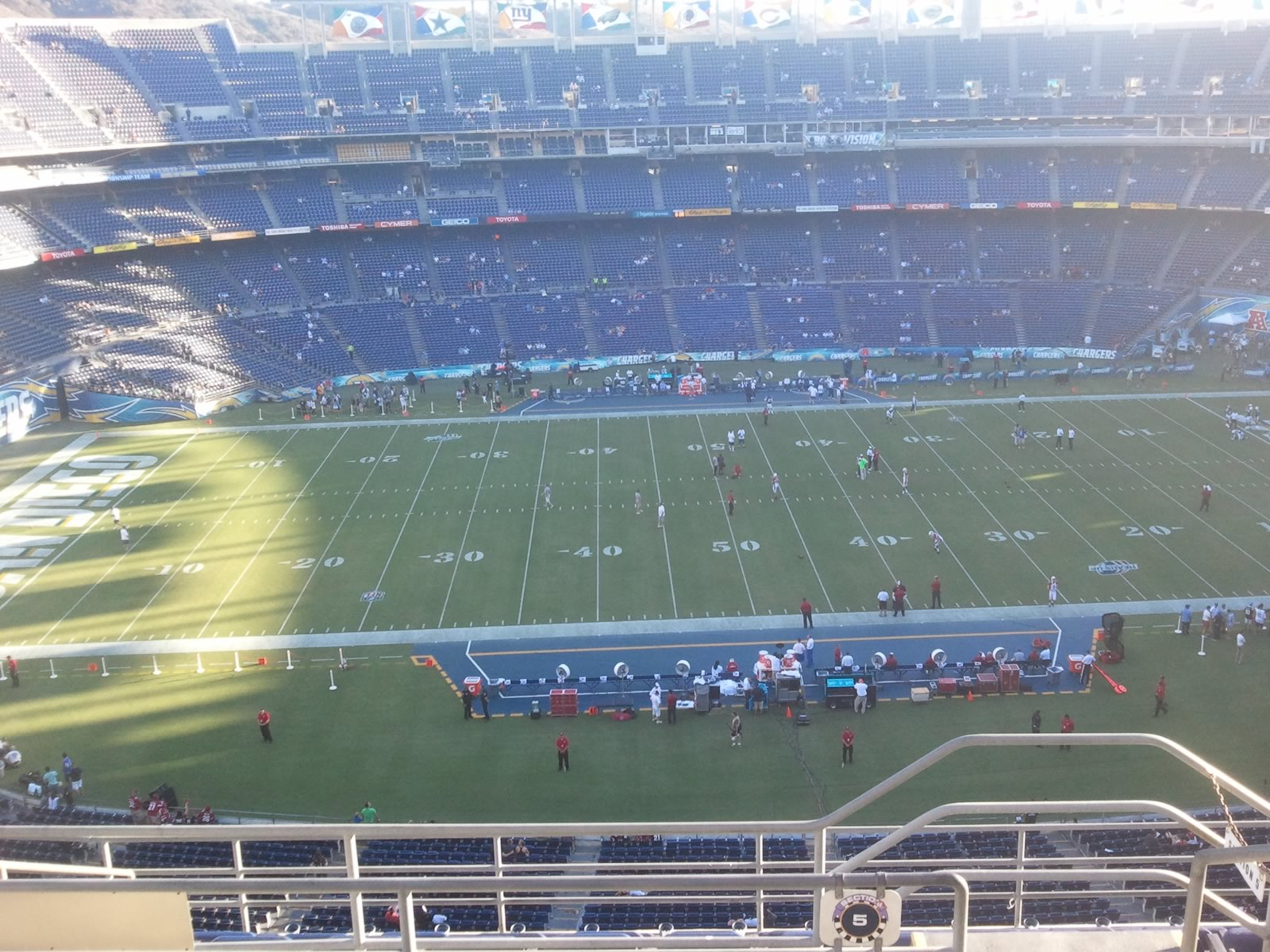 Seat View for Qualcomm Stadium View Level 5V, Row 9